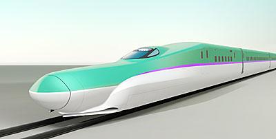 紫の帯が特徴の北海道新幹線