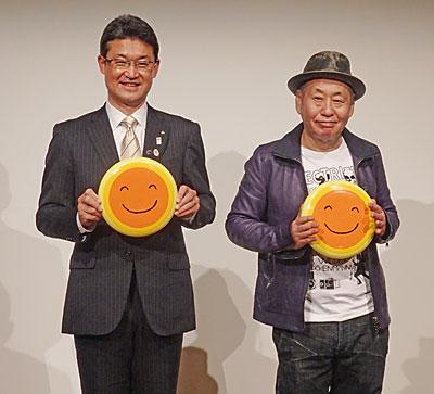 河野俊嗣知事(左)と泉谷しげるさん