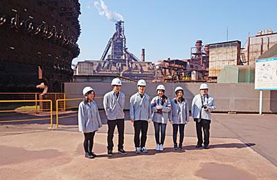 ものづくりの視点から新日鐵住金工場を見学