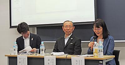 (右)から矢ヶ崎氏、森本氏、加藤氏