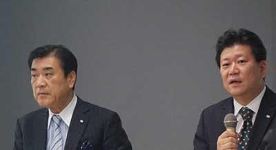 12年ぶりに社長に復帰した澤田氏(左)と、平林氏