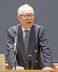 松園俊志氏(最終講義で)